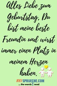 Geburtstagssprüche beste Freundin / Bester Freund