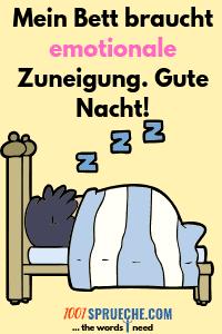 Gute Nacht lustiger Spruch