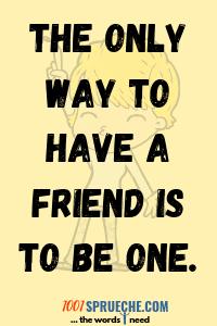 Englische Sprüche über die Freundschaft