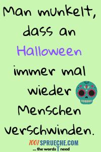 Gruselige Halloween Sprüche