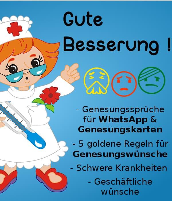 GUTE BESSERUNG: Genesungswünsche, Sprüche & Zitate | Tipps 2019
