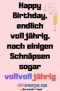 18. Geburtstag Sprüche