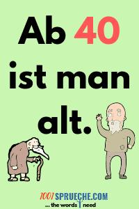 Sprüche zum 40. Geburtstag