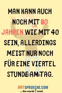 Sprüche zum 80 Geburtstag