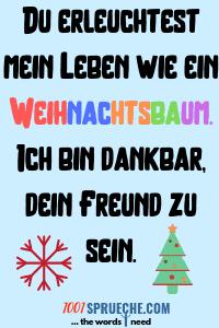 Weihnachtswünsche für Freunde