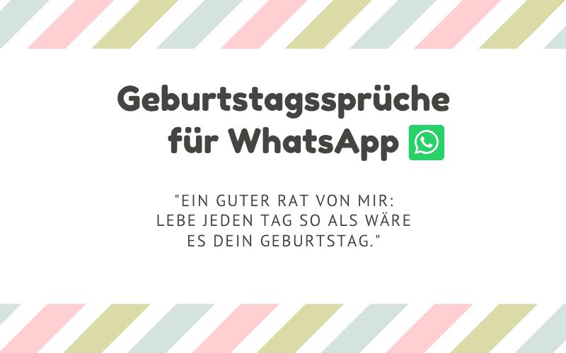 Geburtstagsprüche für WhatsApp