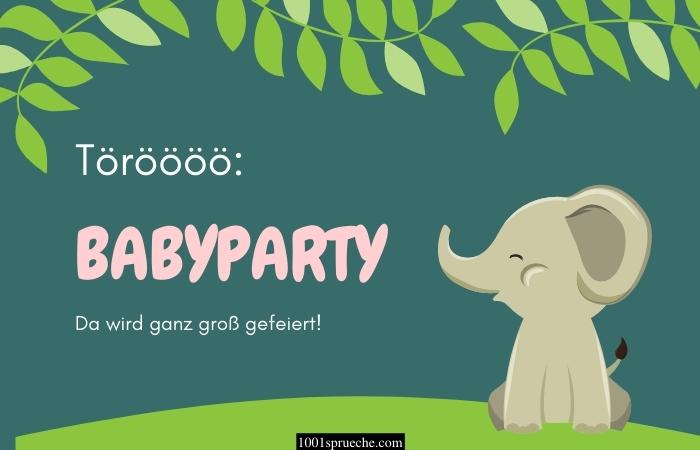 Einladung zur Babyparty Text
