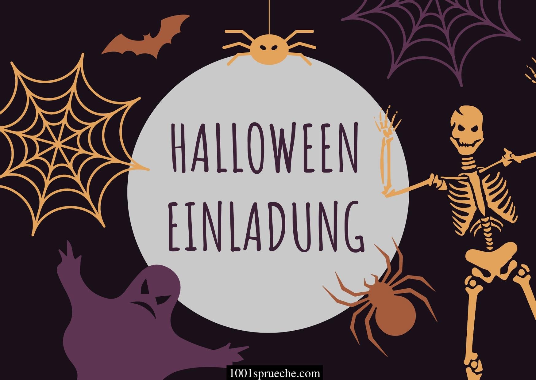 Halloween Einladung Text