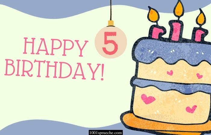 Einladungstext 5. Geburtstag