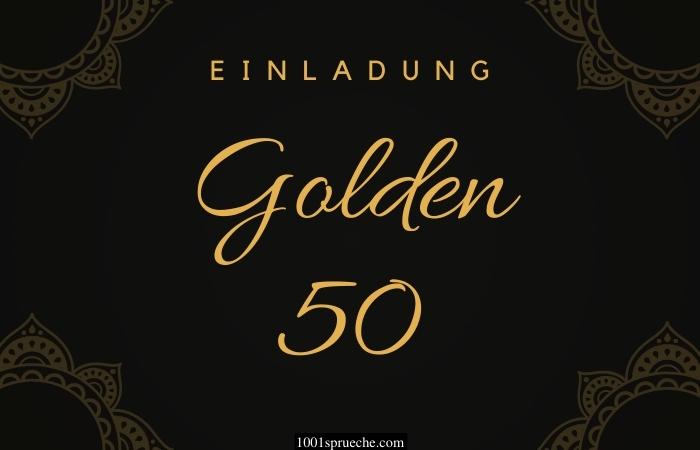 Einladungstext 50. Geburtstag