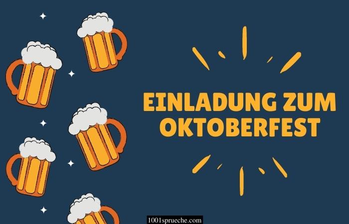 Einladung zum Oktoberfest Text