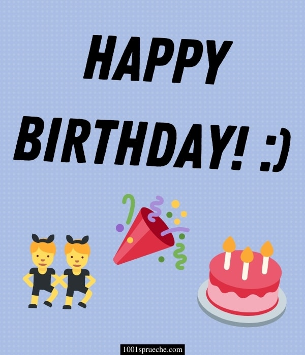 Geburtstagswünsche für WhatsApp mit Emojis
