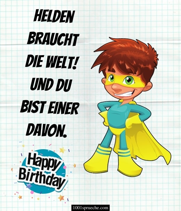 Lustige Geburtstagsgrüße für Kinder