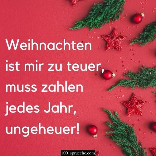 Lustige Weihnachtssprüche für Karten