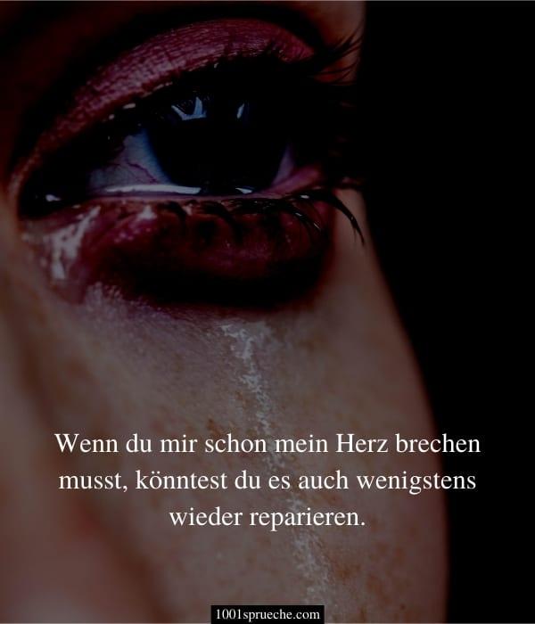 Traurige Liebessprüche zum Weinen