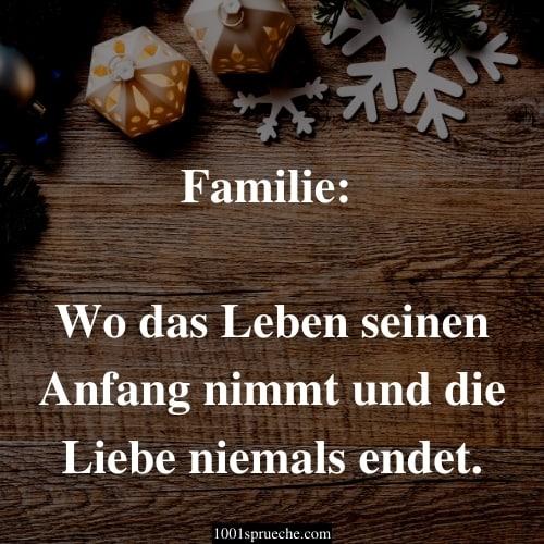 Weihnachtsgrüße für Karten an die Familie