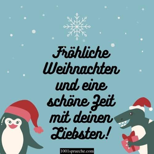 Fröhliche Weihnachten und eine schöne Zeit mit deinen Liebsten!