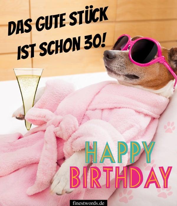 Geburtstagswünsche 30 lll▷ Über